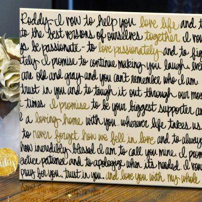 golden paisley wedding vow art