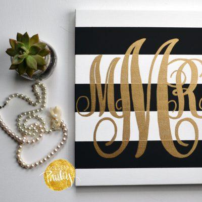 customized monogram painting bridesmaid gift