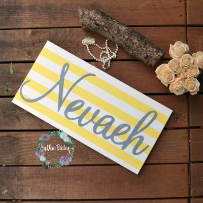 personalized name sign painting nursery art