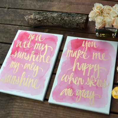 you are my sunshine watercolor painting set