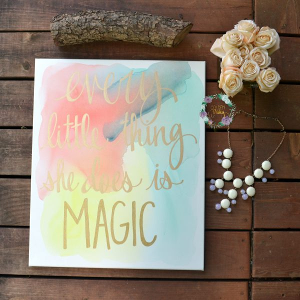 custom watercolor nursery wall decor painting