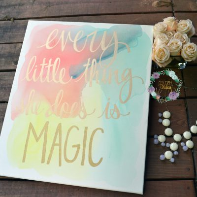 watercolor canvas painting every little thing she does is magic