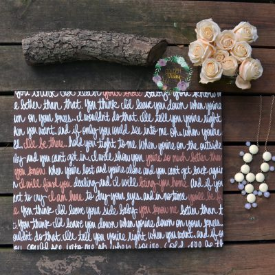 brown bronze wedding vow art