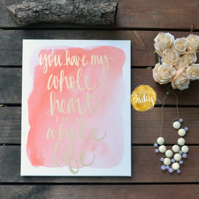 hand lettering home decor wall art