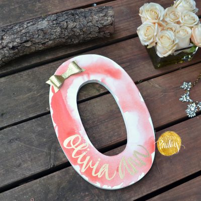 monogram letter custom painted letter