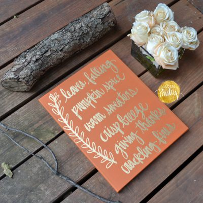 pumpkin spice fall decorations sign
