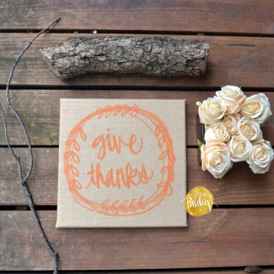 give thanks burlap wall decor fall decorations