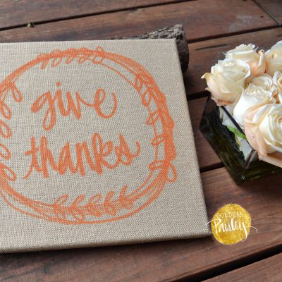 give thanks sign thanksgiving decor