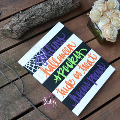halloween hostess gift art sign