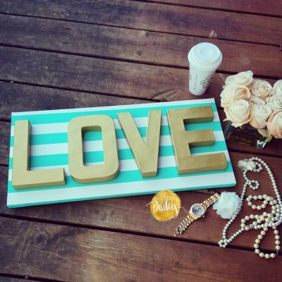 LOVE canvas art sign