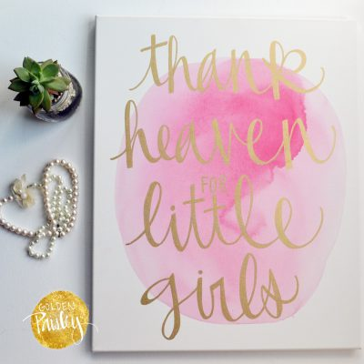 baby girl pink and gold nursery decor