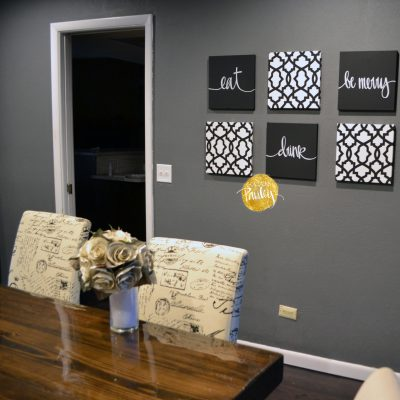 dining room decor black and white wall art