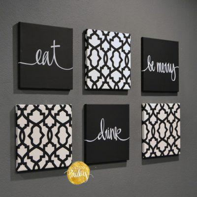 eat drink be merry wall art set