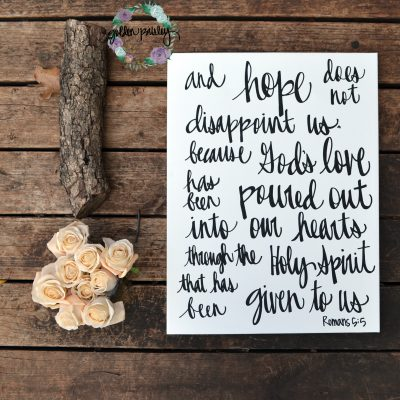 hand lettering bible verse