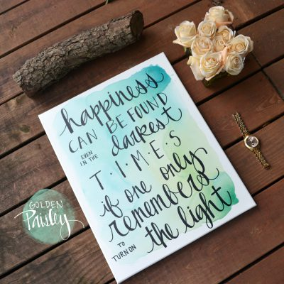 inspirational watercolor quote art canvas