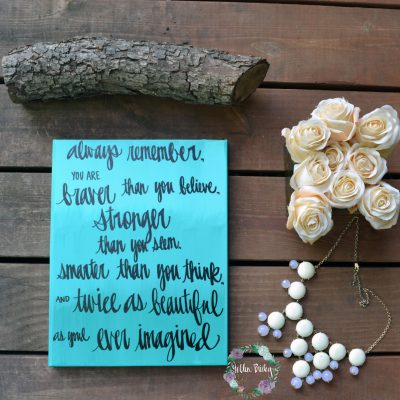 hand lettered quote art canvas wall hanging wall art