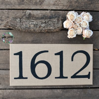 housewarming gift house number sign