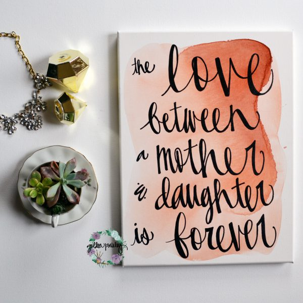 mother's day quote wall art painting
