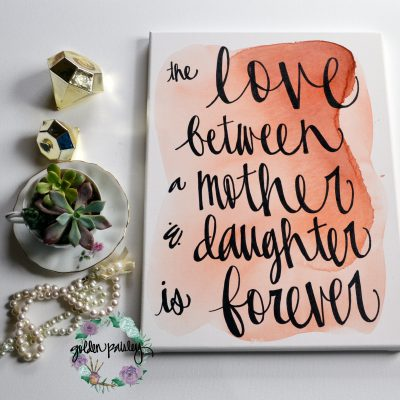 watercolor painting quote art coral