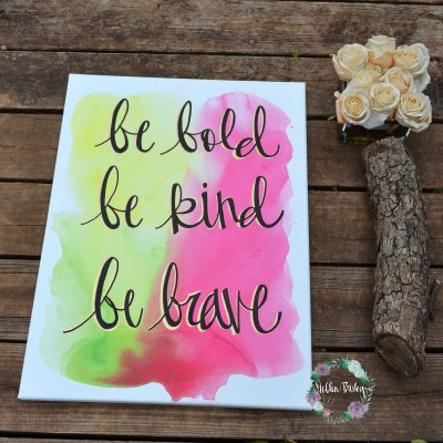 watercolor quote art neon wall art