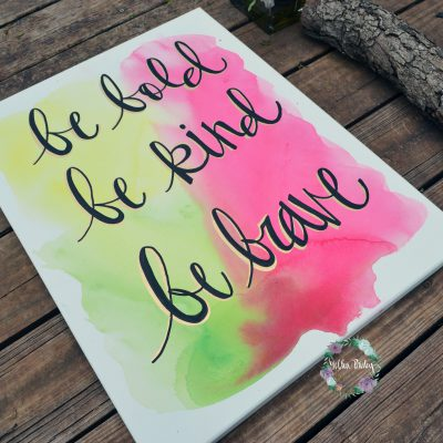 hand lettering bright wall decor rainbow decor