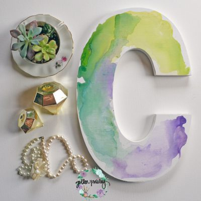 watercolor monogram letter
