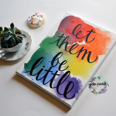 let them be little canvas painting wall art