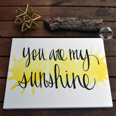 you are my sunshine nursery wall art