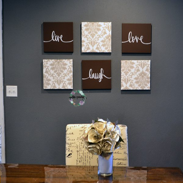 live laugh love canvas wall art set