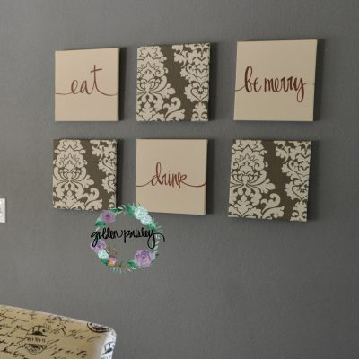 eat drink be merry canvas wall art set