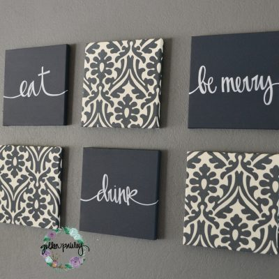 six piece dining room wall decor
