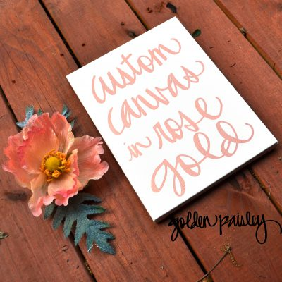 rose gold wall decor sign