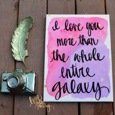 galaxy quote canvas art
