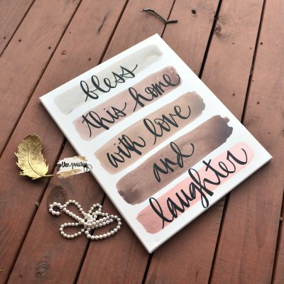 taupe wall art quote sign