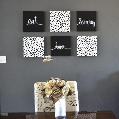 chic dalmatian wall art set