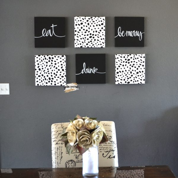 chic dalmatian wall art set