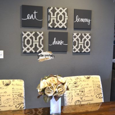 wall art set dining room decor