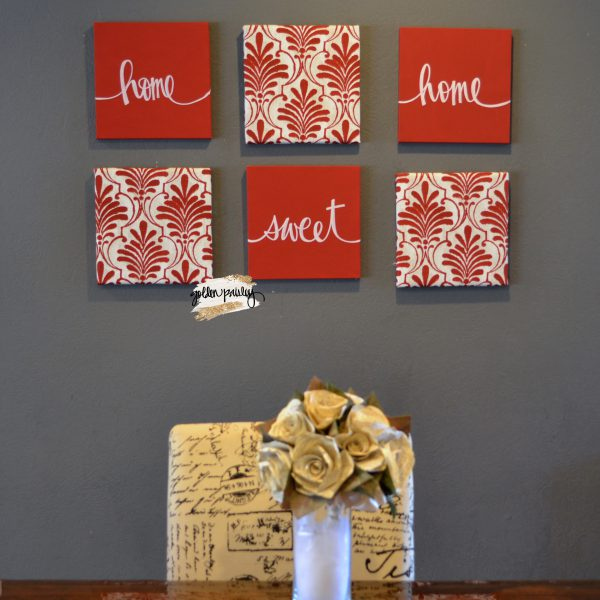 red eat drink be merry wall art set