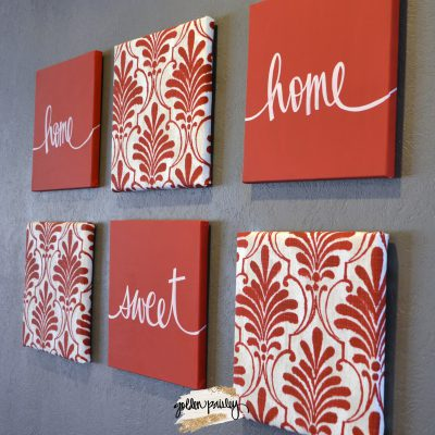 home sweet home red farmhouse decor