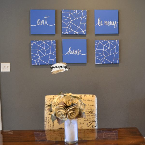blue dining room wall art