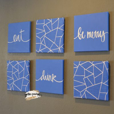 six piece wall art set dining room