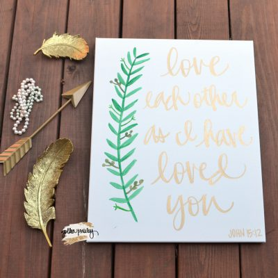 love each other bible verse watercolor art