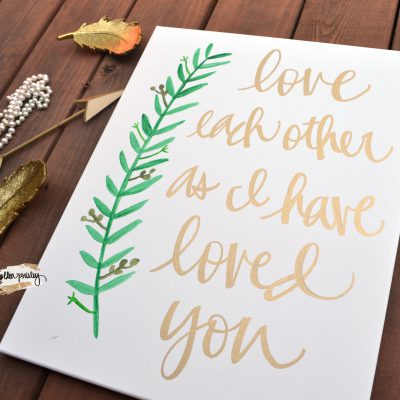 love each other bible verse canvas painting
