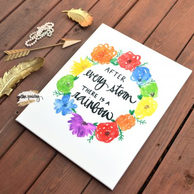 rainbow nursery sign wall art canvas