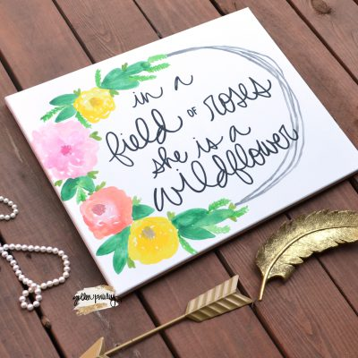 floral nursery wall art sign