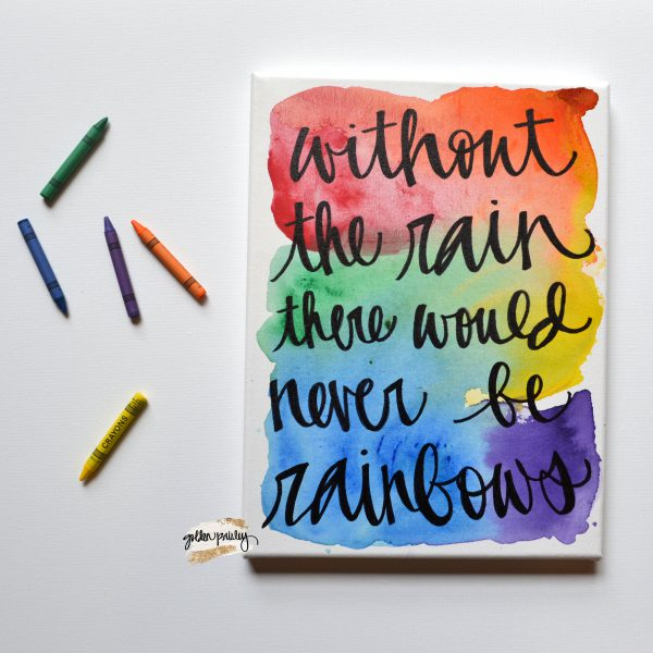 rainbow baby quote wall art without the rain there would never be rainbows miscarriage pregnancy after loss